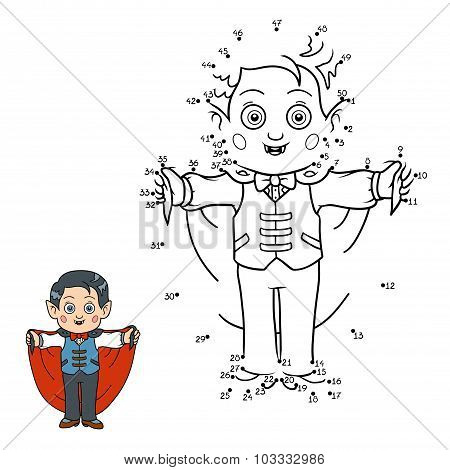 Numbers Game For Children: Halloween Characters (vampire)