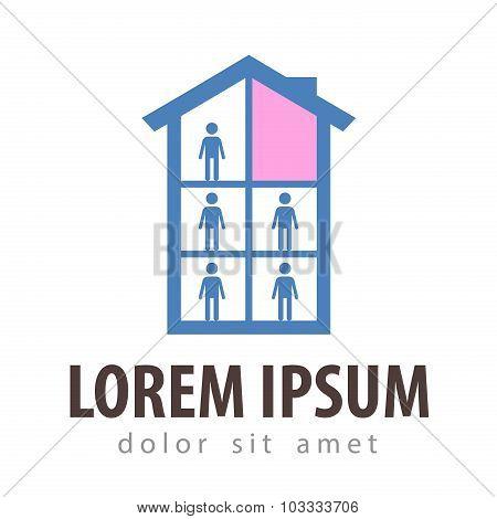 hotel vector logo design template. house or apartment icon