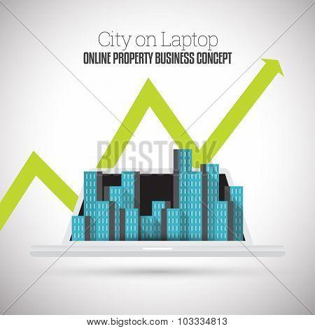 City On Laptop