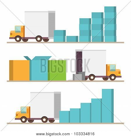 Delivery Infographic Elements
