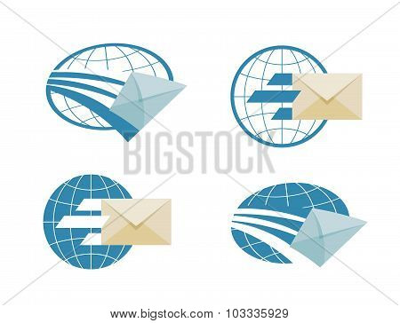 mail vector logo design template. email or message icon