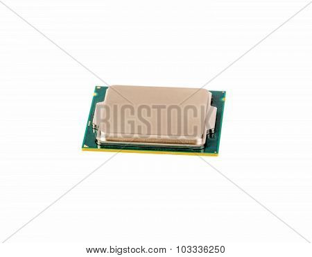 Electronic Collection - Computer Cpu Chip Isolated On White Background