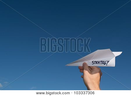 Conceptual Illustration Of Launching A New Strategy