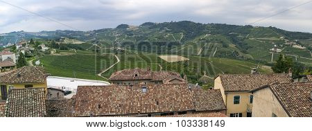 Langhe Hilly Region: viewpoint of  Serralunga d'Alba (Cuneo). Color image
