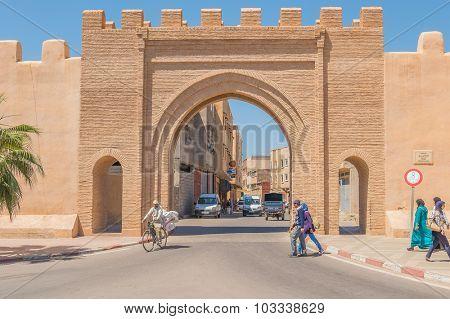 TAROUDANT, MOROCCO, APRIL 9, 2015: Bab Leblaliaa (gate in ancient walls)