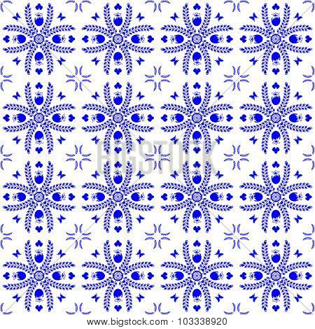 Seamless Pattern In The Style Of Dutch Tiles
