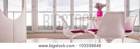 Spacious Lounge With Window Wall