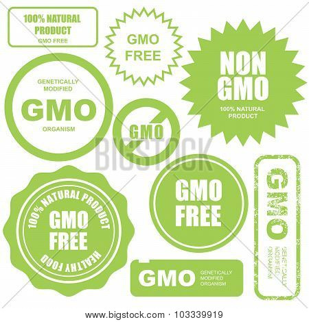 GMO free stamps stickers and labels