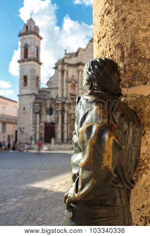Plaza De La Catedral In La Habana