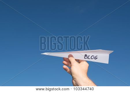 Conceptual Illustration Of Launching A New Blog