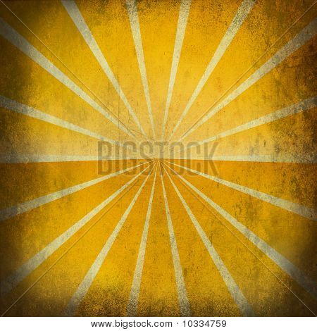 Retro Sun Grunge Background