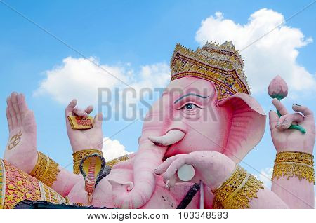 Ganesha Statue The Hinduism Very Holy God.
