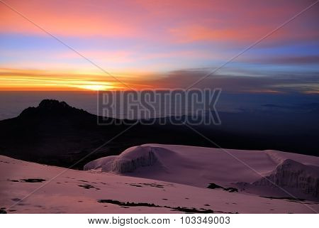 Sunrise At The Mt Kilimanjaro, Tanzania