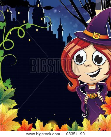 Witch Girl Near The Castle