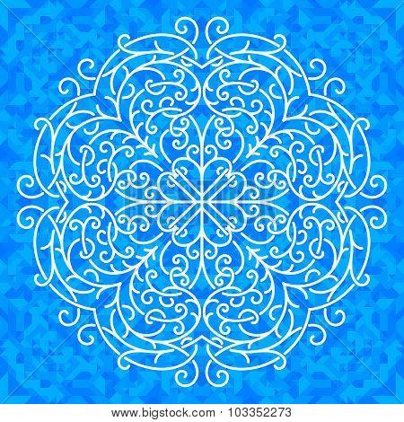 Vector ornate snowflake
