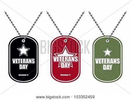 Set Army Badge. Soldier Medallions Of Different Colors. Logo For Veterans Day. National American Hol