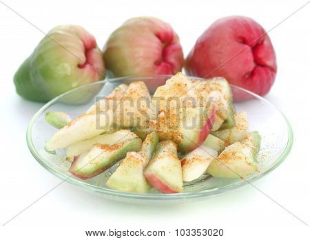 Sliced  Water Apple Or Rose Apple