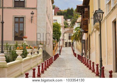 Steep and narrow street