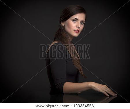 Painterly Portrait Of A Beautiful Woman