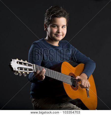Cheerful Little Guitarist