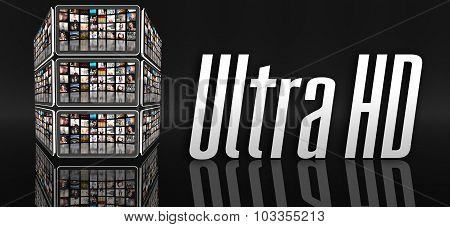 Ultra Hd Television Concept, Tablets Or Lcd Panels