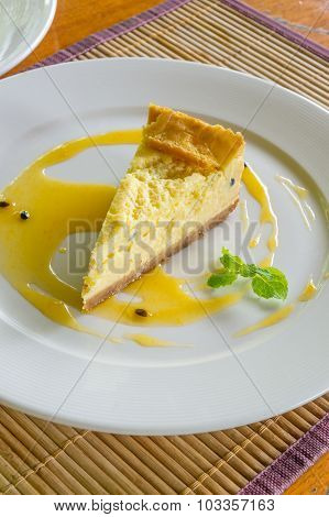 Baked Passion Fruit Cheesecake