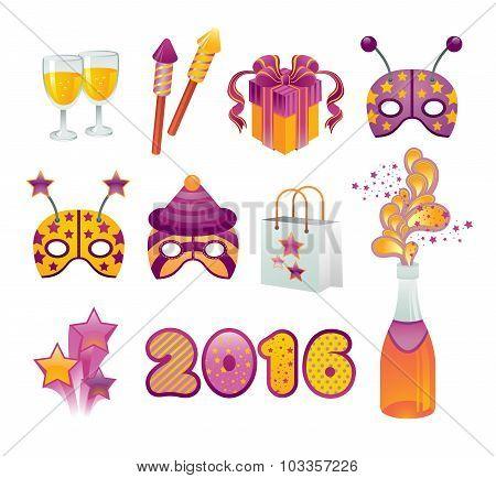 New Year Icon Set