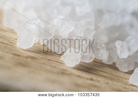 Close-up Of Coarse Sea Salt