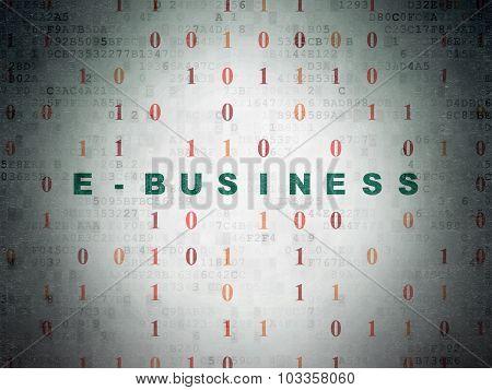 Finance concept: E-business on Digital Paper background