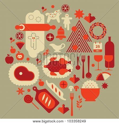 Christmas Food Composition.