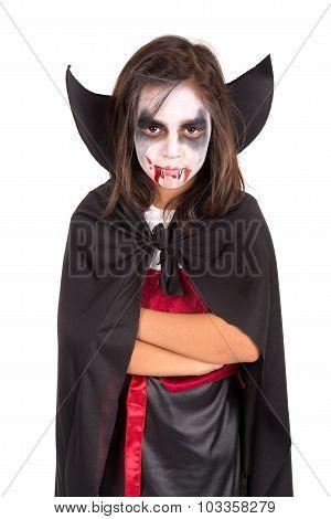 Girl In Halloween Vampire Costume