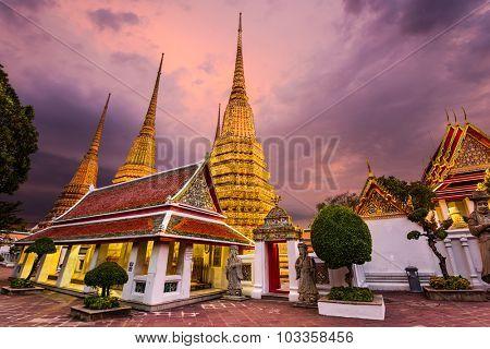 Wat Pho Temple in Bangkok, Thailand.