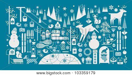 Christmas Panoramic Composition