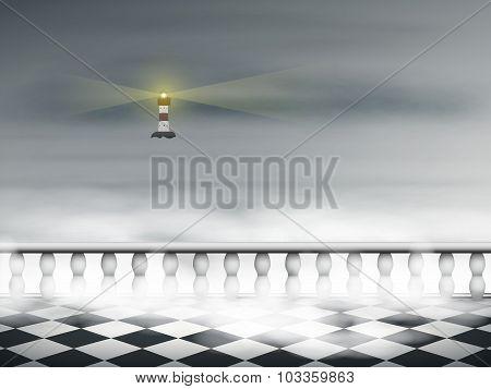 A Lighthouse In The Fog
