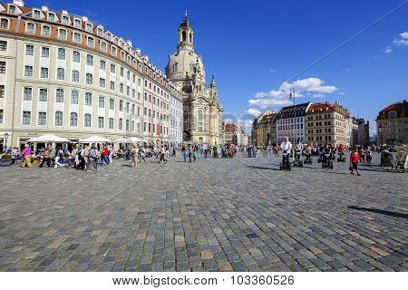 General View Of The New Market Square, Dresden