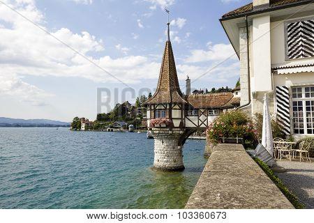 Little Tower In The Lake Thun