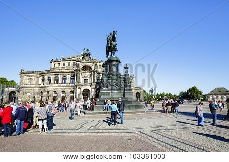 The Bronze Equestrian Statue Of King Johann