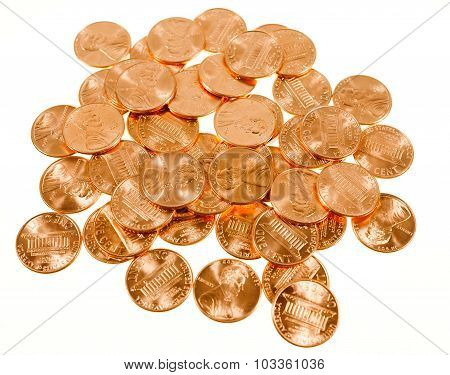 Retro Look Dollar Coins 1 Cent Wheat Penny Cent