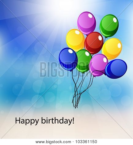 Vector Card For Happy Birthday