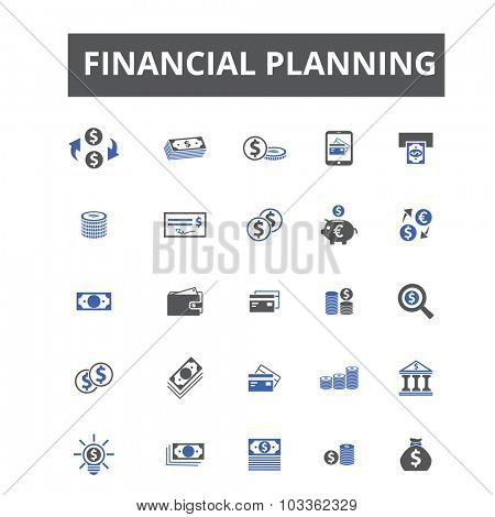 finance planning icons