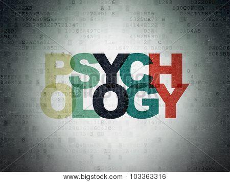 Healthcare concept: Psychology on Digital Paper background