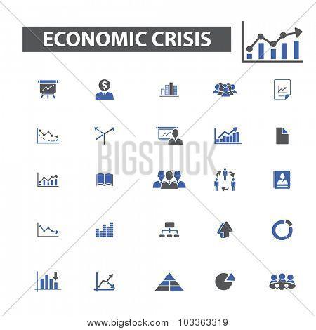 economic crisis icons