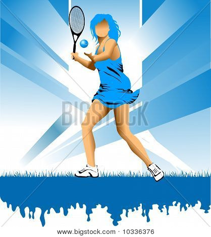 Girl With Racket