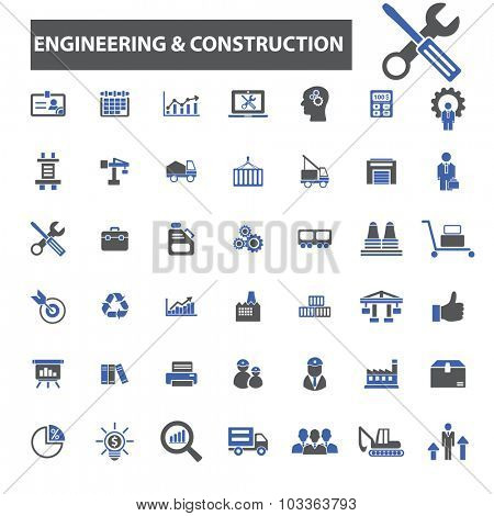 engineering, construction icons