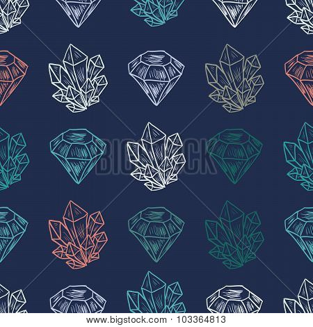 Vector Diamond Seamless Pattern