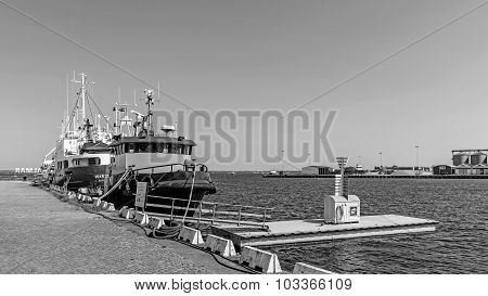 Ships moored in the Port of Kalmar