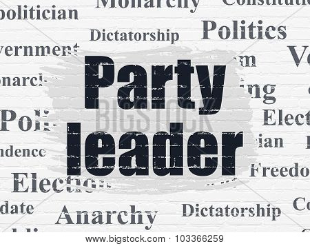Political concept: Party Leader on wall background