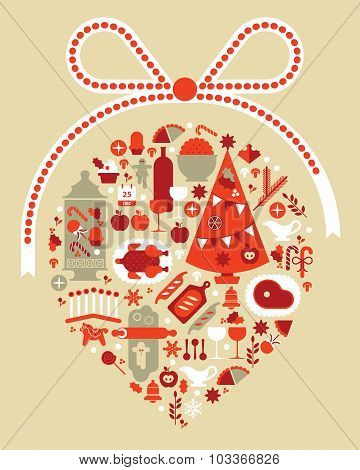 Composition With Christmas Food