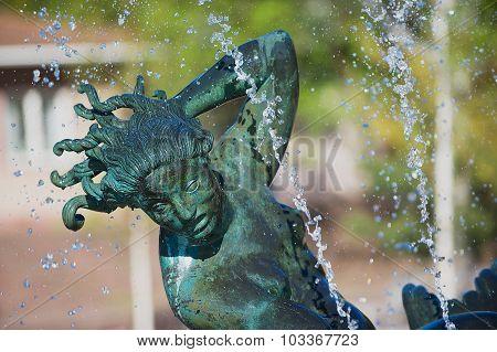 Exterior detail of the sculpture in Millesgarden sculpture garden in Stockholm.