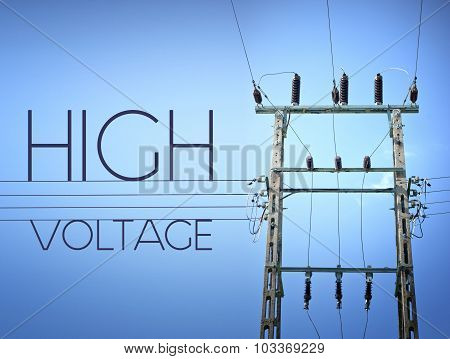High Voltage Sign, Concept Of Electricity